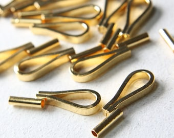 4 Pieces Gold Tone Brooch Converter Vertical Style - 32x8mm (I-79H)
