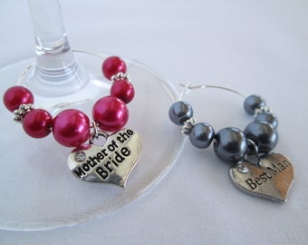 Wine Glass Charm Wedding Favour, Wine Glass Charm Wedding, Bridesmaid Favours, Hen Party Gift, Bridal Party Gift, Bachelorette Party Favours