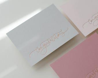 Foil Pressed Congrats cards