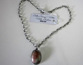 Bella's Orange And White Calcite Necklace