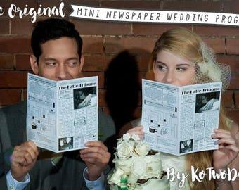 Mini Newspaper Wedding Program