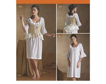 Simplicity Sewing Pattern 8162 Misses' 18th Century Undergarments