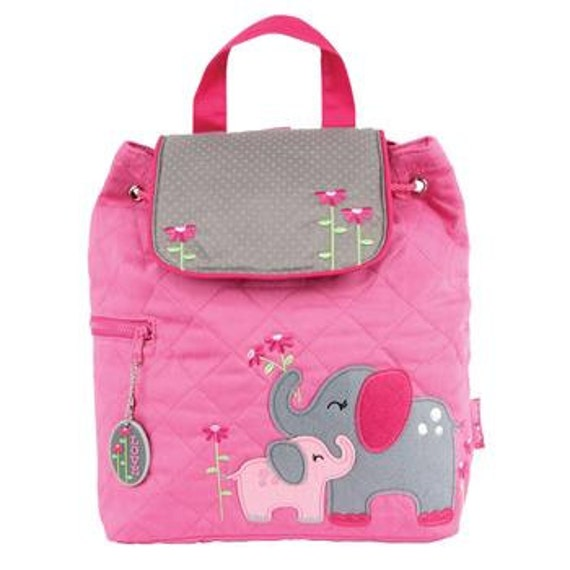 Personalized Stephen Joseph Toddler Quilted Elephant Backpack, Monogrammed Kids Backpack, Children's Backpack, Preschool Backpack