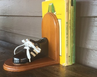 Bookend - Child's Room - Boy's Room - Soccer Decor - Ceramic Shoe Bookend