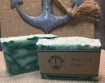 White Tea and Ginger - Handmade Soap - Vegan - Homemade Soap - All Natural