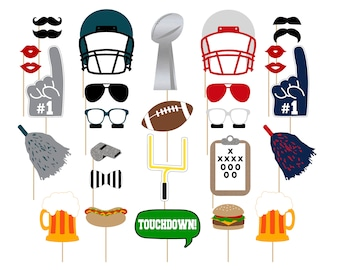 Printable Football Photo Booth Props . Instant Download Football Photo Booth Props . Super Bowl Party . Football Party . Super Bowl . NFL