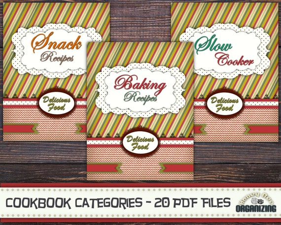 Recipe book binder categories kit printable cookbook forumfinder
