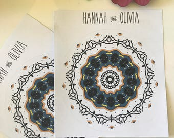 Mandala black and yellow / Bullet Journal