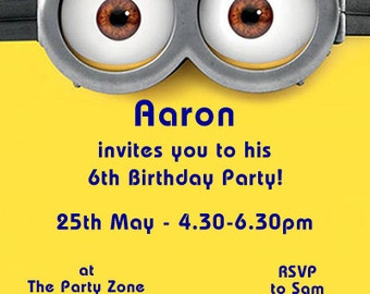 Minions - Personalised Children's Party Invitations - Pack of 10