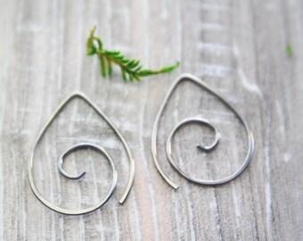 Titanium Spiral hoops | Tiny spiral earrings| Niobium earrings | Niobium Hoops | Spiral earrings