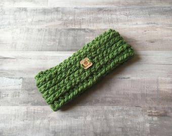 Headband Ear Warmer, Kelly - Crochet Headband - Womens Knit Headband - Fall Accessories - Knit Earwarmer - Gifts for Her - Womens Headbands