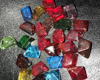 Gem shaped Czech glass beads