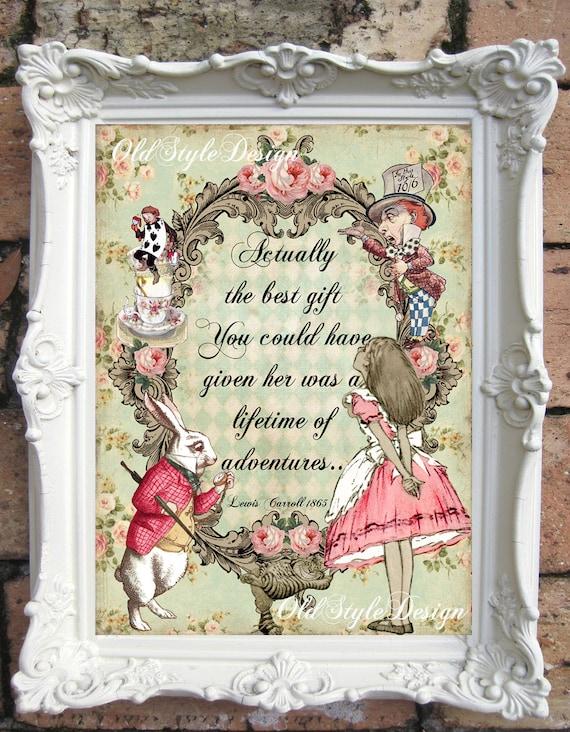 ALICE in WONDERLAND Print Alice in Wonderland Decor Vintage