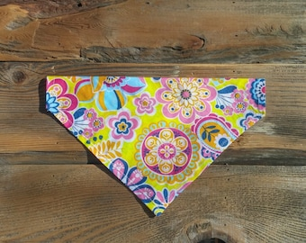 Flower Dog Bandana, Wildflowers, Dog Bandana, Dog Scarf, Cat Bandana, Pet Collar, Pet Supplies, Pet Clothing, Pet Accessories, Pets