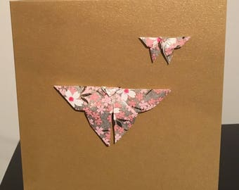 Origami Butterfly Card