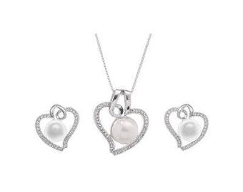Heart and Pearl Set