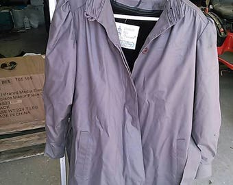 Vintage 1960's London Fog Trench Coat. Ladies Size 10R. Made in U.S.A.