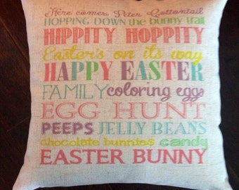 Easter subway art pillow cover