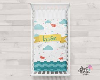 Paper Planes - Personalised baby blanket