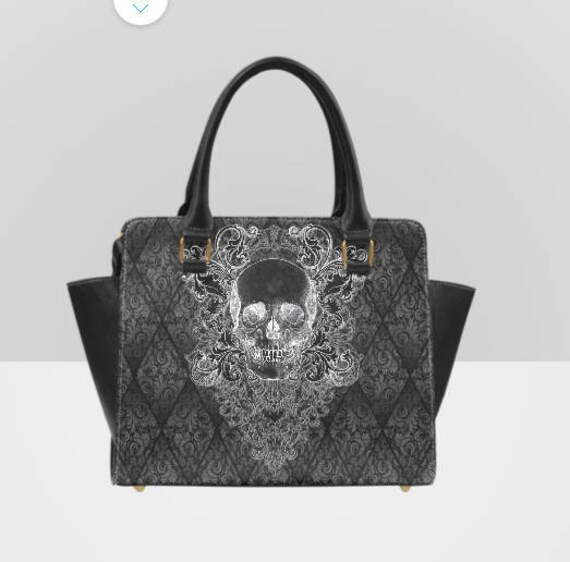 Baroque Skull Shoulder Handbag