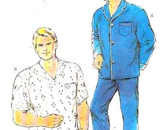 Mens Large Pajamas Fathers Dads Husbands Sewing pattern Kwik Sew 1663 Uncut Size 50 to 56 UNCUT