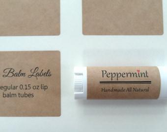 "Kraft Lip Balm Label, Kraft Label, 2.125"" x 1.6875"""