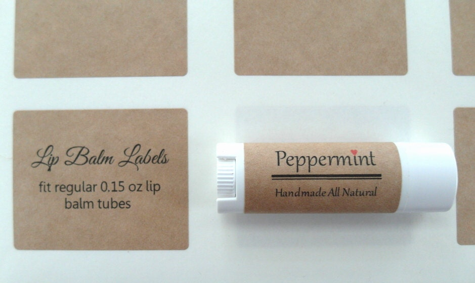 Lip Balm Label Kraft Label X - Lip balm label template