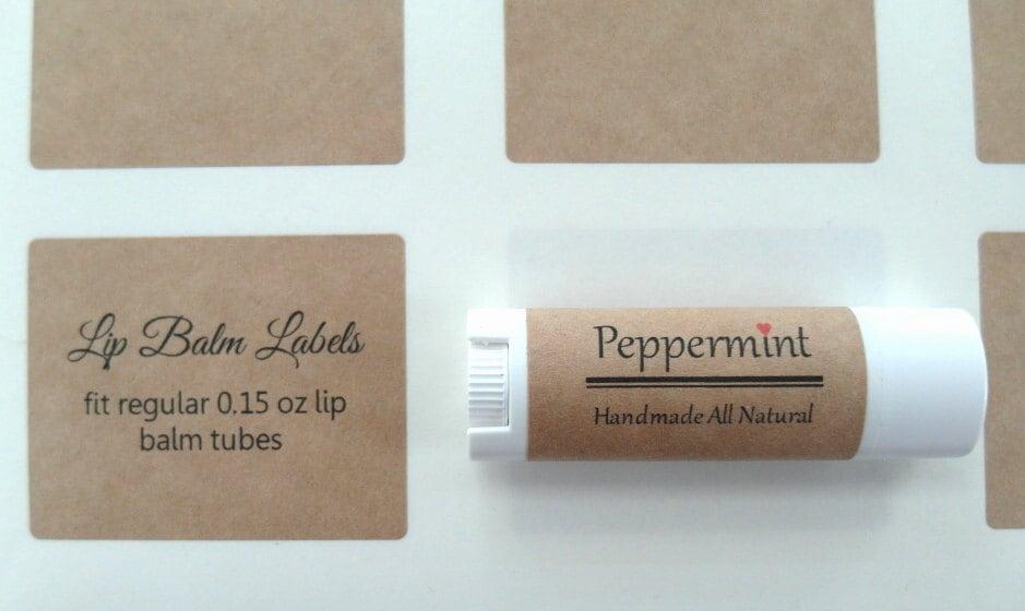 Lip Balm Label Kraft Label X - Lip balm label template
