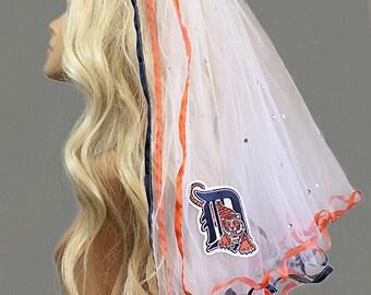 Detroit Tigers Bachelorette Veil