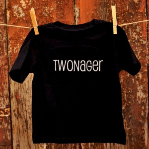 Twonager Tee, Toddler Tee, Terrible Two, Funny Toddler Shirt, Toddler Gift, Glitter