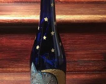 Cheshire Cat Inspired Light Up Wine Bottle