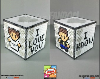 Star Wars Box with Lid - I Love You I Know | Star Wars Gift Box | Han and Leia | Gift Box with Lid | Star Wars Decor