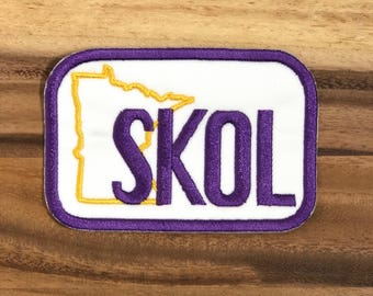 SKOL-Minnesota Patch-MN Vikings Patch-Football patch-Custom Patch