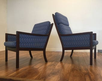 Ole Wanscher for P. Jeppesen Lounge Chairs