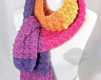 Crochet Scarf Pattern, Crochet Super Scarf, Long Scarf Pattern, Crochet Neck Warmer Pattern, Sedge Stitch Scarf Instant Download