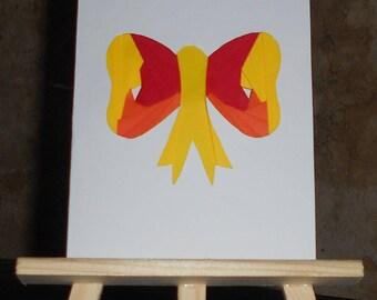 Bow in iris folding card