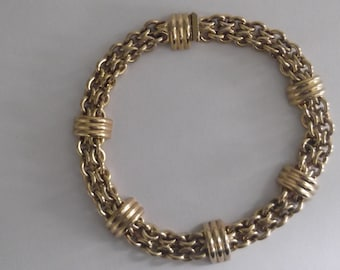 Vintage Gilded designer Necklace