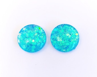 The 'Fantasy' Glass Glitter Earring Studs