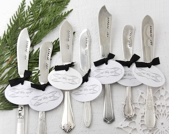 Spread Joy, Stamped Spreader, Stamped Knife, Cheese Knife, Foodie Gift, Hostess Gift, Friendsgiving, Dinner Party, Thanksgiving Gift
