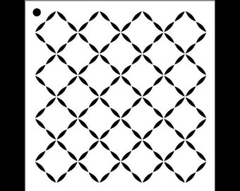 Quilted Diamond Pattern Stencil - Select Size - STCL1025 by StudioR12