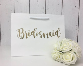 Bridesmaid Bag | Bridesmaid Gift Bag | Personalised Bridesmaid Bag | Wedding Gift Bag | Boutique Bag | Thank You Bridesmaid |Will You Be My