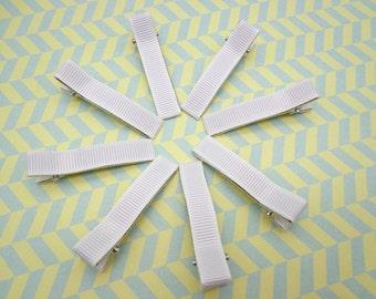 Sale--50 pcs girl hair clips - satin hair clips - girl barrettes