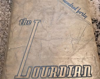 1940 The Lourdian Lourdes High School Chicago Illinois Yearbook Catholic