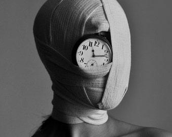 NO TIME Photo by Olga Stepanian, Black&White, Clock, Wall Decor, Wall Art, Art Home, Decor,  Photo Print