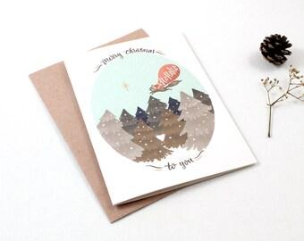 Christmas Cards - Merry Christmas Ho Ho Ho - 10 Greeting Cards