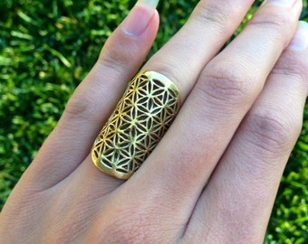 Flower of Life Ring Size 5-7