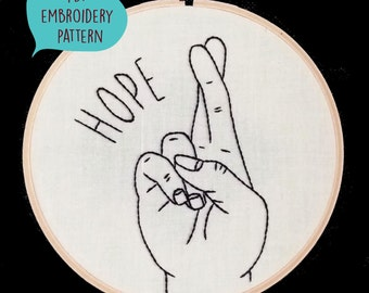 PDF embroidery pattern for Hope gesture by galemofre