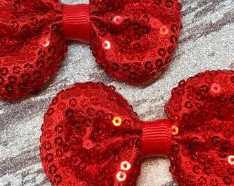 Red sequin 3 inch set