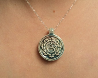 Om symbol necklace etsy quick view gift om necklace aloadofball Gallery