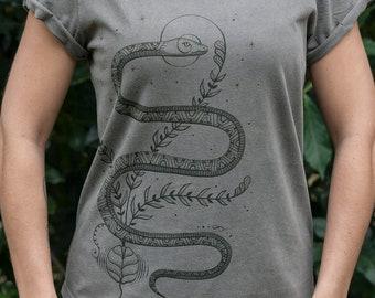 Organic Females Serpent Lyfe Rolled Sleeve T-shirt